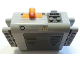 Part No: 59510c01pb02  Name: Electric 9V Battery Box 4 x 11 x 7 PF with 'O' and Electricity Danger Sign Pattern (Sticker) - Set 8258