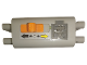Part No: 59510c01pb05  Name: Electric 9V Battery Box 4 x 11 x 7 PF with Black and Yellow Arrows Pattern (Sticker) - Set 9397