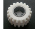 Part No: 6014bc02  Name: Wheel 11mm D. x 12mm, Hole Notched for Wheels Holder Pin with White Tire Offset Tread Small Wide (6014b / 6015)