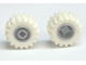 Part No: 6014bc06  Name: Wheel 11mm D. x 12mm, Hole Notched for Wheels Holder Pin with White Tire Offset Tread Small Wider, Beveled Tread Edge (6014b / 60700)