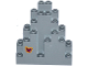 Part No: 6083pb07  Name: Rock Panel 3 x 8 x 7 Triangular (LURP) with Magenta Butterfly Pattern Lower Left (Sticker) - Set 41122