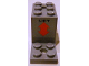 Part No: 6087pb01  Name: Bracket 5 x 2 x 2 1/3 with 2 Holes with 'LIFT' and Orange Double Arrow Pattern (Sticker) - Set 4210