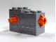 Part No: 61100c01  Name: Windup Motor 2 x 4 x 2 1/3 with Orange Release Button