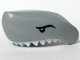 Part No: 62604pb01  Name: Shark Head with Teeth White and Black Eyes Pattern