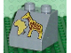 Part No: 6474pb13  Name: Duplo, Brick 2 x 2 Slope 45 with Africa Map and Giraffe Pattern