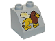 Part No: 6474pb14  Name: Duplo, Brick 2 x 2 Slope 45 with Africa Map and Lion Pattern