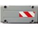 Part No: 64782pb001L  Name: Technic, Panel Plate 5 x 11 x 1 with Red and White Danger Stripes Pattern Model Left Side (Sticker) - Set 8110