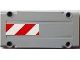 Part No: 64782pb001R  Name: Technic, Panel Plate 5 x 11 x 1 with Red and White Danger Stripes Pattern Model Right Side (Sticker) - Set 8110