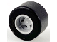 Part No: 74967c01  Name: Wheel  8mm D. x 9mm, Hole Notched for Wheels Holder Pin, Reinforced Back with Black Tire 14mm D. x 9mm Smooth Small Wide Slick (74967 / 30028)