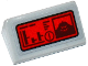 Part No: 85984pb145  Name: Slope 30 1 x 2 x 2/3 with Graphs, Exclamation Mark and Killer Croc Head on Red Screen Pattern (Sticker) - Set 76055
