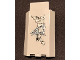 Part No: 87421pb023a  Name: Panel 3 x 3 x 6 Corner Wall without Bottom Indentations with 9 White Ivy Leaves, Spider and Web Pattern, Glow in the Dark (Sticker) - Set 9468