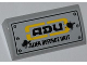 Part No: 88930pb014  Name: Slope, Curved 2 x 4 x 2/3 No Studs with Bottom Tubes with 'ADU ALIEN DEFENCE UNIT' Pattern (Sticker) - Set 7066