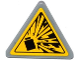 Part No: 892pb024  Name: Road Sign Clip-on 2 x 2 Triangle with Yellow Explosion Type 2 Pattern (Sticker)