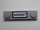 Part No: 92593pb016  Name: Plate, Modified 1 x 4 with 2 Studs with 'GH60007' License Plate Pattern (Sticker) - Set 60007