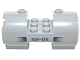 Part No: 93168pb03L  Name: Cylinder 3 x 6 x 2 2/3 Horizontal, New Style with Black Vents and 'SM-05' Pattern Model Left Side (Sticker) - Set 70724