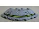 Part No: 95188pb01  Name: Brick, Round Corner 6 x 6 with Slope 33 Edge, Facet Cutout with Alien Ship Pattern Type 1 (Sticker) - Set 7065