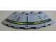 Part No: 95188pb02  Name: Brick, Round Corner 6 x 6 with Slope 33 Edge, Facet Cutout with Alien Ship Pattern Type 2 (Sticker) - Set 7065