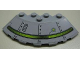 Part No: 95188pb05R  Name: Brick, Round Corner 6 x 6 with Slope 33 Edge, Facet Cutout with Alien Ship Pattern Model Right (Sticker) - Set 7051