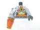 Part No: 973pb0577c02  Name: Torso Agents Villain Magma Silver Front Panel Pattern / LBG Arm and DBG Hand Left / Met Silver Mech Arm and Trans-Or Cone Right