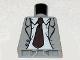 Part No: 973pb0593  Name: Torso Indiana Jones Open Suit Jacket with Rumpled Shirt and Dark Brown Tie Pattern