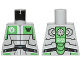 Part No: 973pb1264  Name: Torso Galaxy Squad Robot with Wide Black Belt and Bright Green Plates Pattern