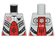 Part No: 973pb1265  Name: Torso Galaxy Squad Robot with Red and Plack Plates, Radiator Pattern on Back