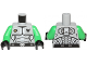 Part No: 973pb1270c02  Name: Torso Galaxy Squad Armor with Number 30 on Back Pattern / Bright Green Arms / Black Hands