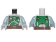 Part No: 973pb2244c01  Name: Torso SW Armor Plates Dark Green Pattern Dual Sided, Small Emblem on Chest (Boba Fett) / Sand Blue Arms / Light Bluish Gray Hands