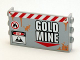 Part No: 98280pb03  Name: Panel 1 x 6 x 3 with Studs on Sides with 'GOLD MINE' Pattern (Sticker) - Set 4204