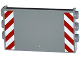 Part No: 98280pb04  Name: Panel 1 x 6 x 3 with Studs on Sides with Red and White Danger Stripes Pattern (Stickers) - Set 60075