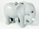 Part No: eleph3c01pb04  Name: Duplo Elephant Adult Stationary Head with Molded Tusks, Eyes Top Semicircular Pattern