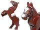 Part No: 10352c01pb01  Name: Horse, Movable Legs with Black Eyes, White Pupils, Black Bridle and White Blaze Pattern