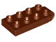 Part No: 16686  Name: Duplo, Plate 2 x 5 with 8 Studs and Hinge