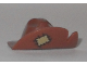 Part No: 17352pb01  Name: Minifigure, Headgear Hat, Wide Brim with Cut and Tan Patch Pattern