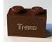 Part No: 3004pb093  Name: Brick 1 x 2 with Gold 'THIRD' Pattern (Sticker) - Set 10194
