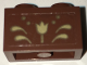 Part No: 3004pb143  Name: Brick 1 x 2 with Gold Flower and Scrollwork Pattern (Sticker) - Set 41068