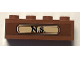 Part No: 3010pb259  Name: Brick 1 x 4 with 'N.S.' in Gold Label Pattern (Sticker) - Set 75952