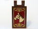Part No: 30350cpb006  Name: Tile, Modified 2 x 3 with 2 Clips (thick U clips) with Horse Head and Gold Border Pattern (Sticker) - Set 10193