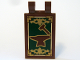 Part No: 30350cpb007  Name: Tile, Modified 2 x 3 with 2 Clips (thick U clips) with Hammer and Anvil and Gold Border Pattern (Sticker) - Set 10193