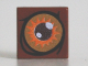 Part No: 3070bpb077  Name: Tile 1 x 1 with Brown and Orange Eye Pattern