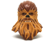 Part No: 35031c01pb01  Name: Large Figure Head Modified SW Wookiee with Medium Dark Flesh Fur Pattern (Chewbacca)