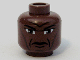 Part No: 3626bpb0328  Name: Minifigure, Head Male Forehead and Cheek Lines, Furrowed Brow Pattern (SW Clone Wars Mace) - Blocked Open Stud