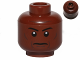 Part No: 3626bpb0424  Name: Minifig, Head Grim Face with Cheek Lines, Thin Eyebrows and White Pupils Pattern - Blocked Open Stud