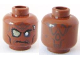 Part No: 3626bpb0561  Name: Minifig, Head Alien with PotC Zombie with Silver Eye and Eyepatch Pattern - Blocked Open Stud