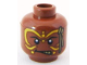 Part No: 3626bpb0573  Name: Minifig, Head PotC Cannibal Yellow Face Paint Pattern - Blocked Open Stud