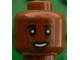 Part No: 3626cpb1602  Name: Minifig, Head Black Eyebrows, Goatee, White Pupils, Laugh Lines, Open Smile with Teeth Pattern (Jérôme (Jerome) Boateng) - Stud Recessed