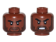 Part No: 3626cpb1643  Name: Minifig, Head Dual Sided Beard Stubble, Black Eyebrows, Neutral / Angry Pattern - Stud Recessed