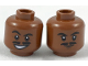 Part No: 3626cpb1859  Name: Minifig, Head Dual Sided Moustache Split, Black Eyebrows, Lopsided Grin / Closed Mouth Pattern (SW Lando) - Stud Recessed