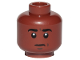 Part No: 3626cpb2092  Name: Minifigure, Head Black Eyebrows, White Pupils, Neutral Pattern - Hollow Stud