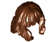 Part No: 37697  Name: Minifig, Hair Mid-Length and Wavy with Bangs